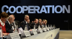 Opening session of the 21st OSCE Ministerial Council in Basel, 4 December 2014. (OSCE/FDFA/Béatrice Devènes)